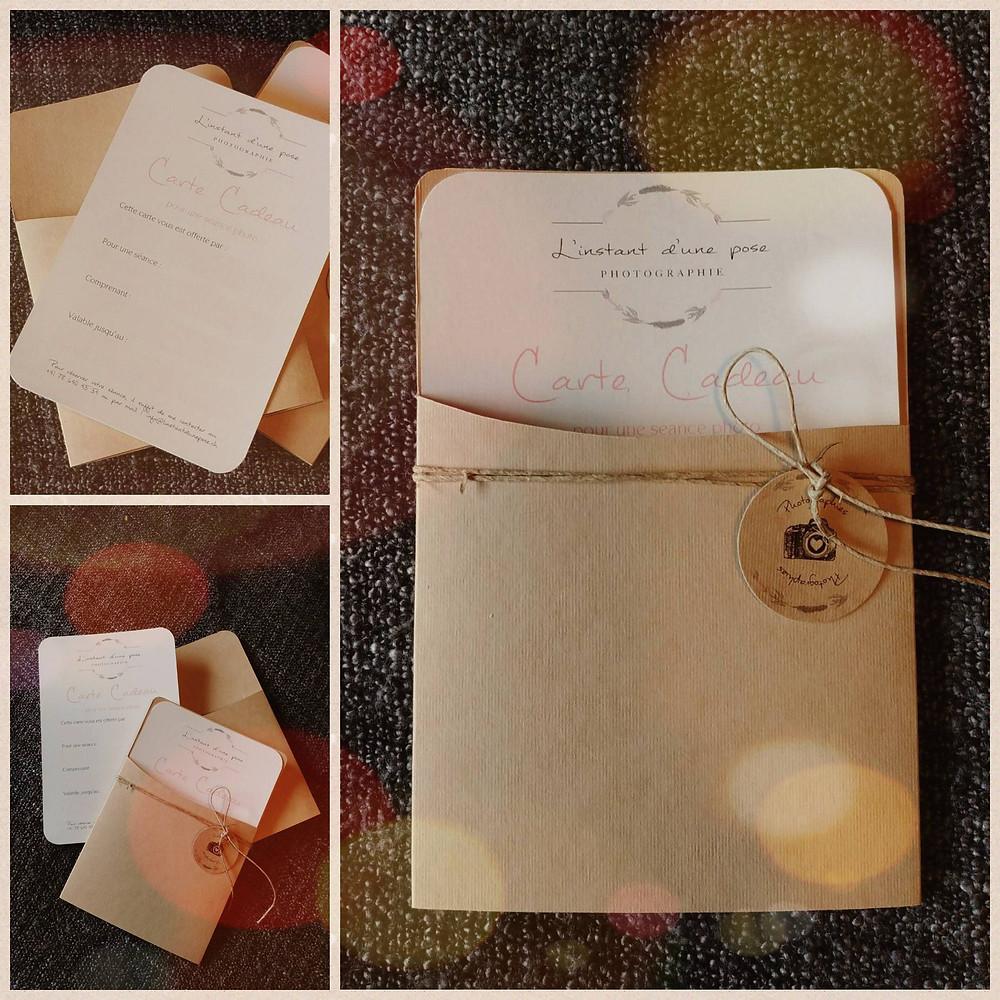 """Carte cadeau """"séance photo"""""""