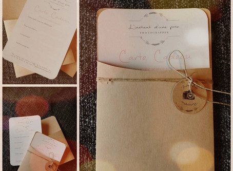 """Carte cadeau  """"Séance photo"""" pour Noël"""