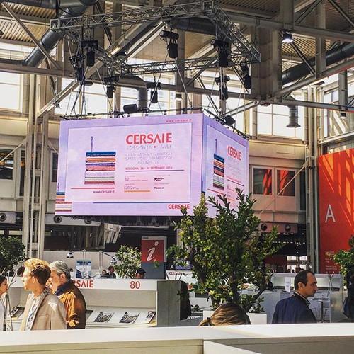 #ledwall #digitalsignage #cersaie #fiera