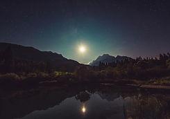 Moonsine on water