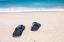 sandel in sand
