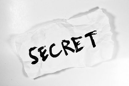 paper with secret on it