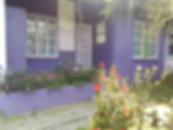 Purple entrance