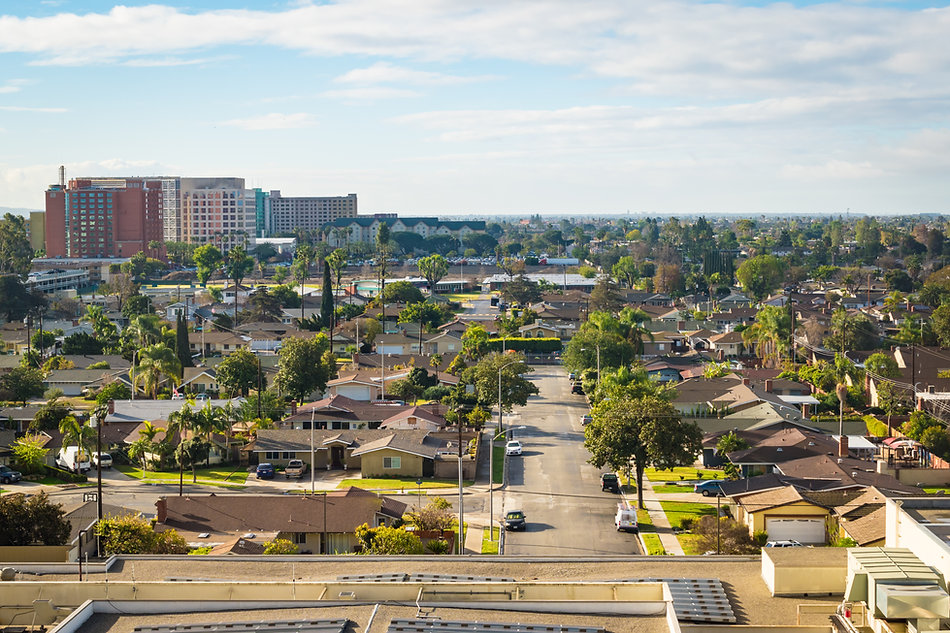 Residential area of Anaheim, California.