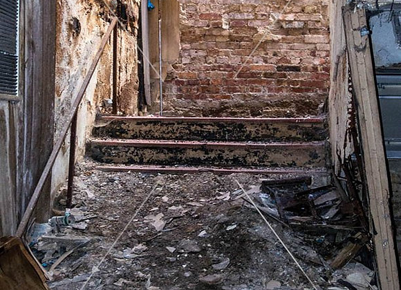 Dirty Old Stairs Print