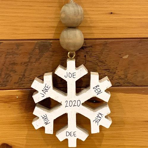 Custom Snow Flake Ornament