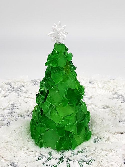 Beach Glass Tree and Skirt - Green