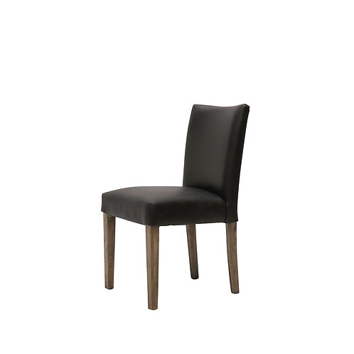 Italian leather dining chair, classic 1940's French design