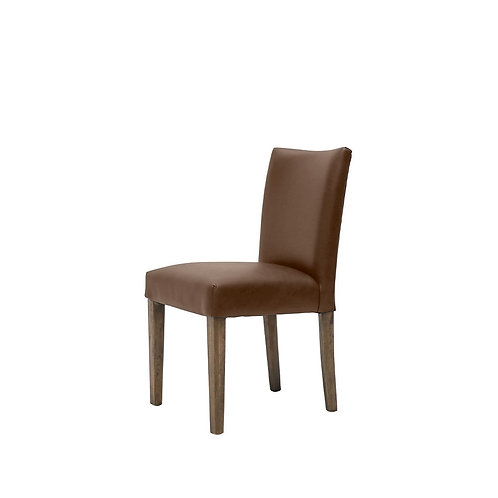 Italian leather dining chair, classic 1940 French design