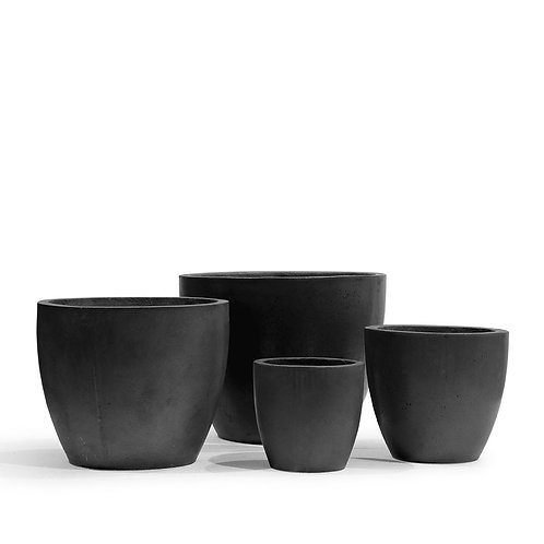 Turin Concrete Planters Black - Set 4