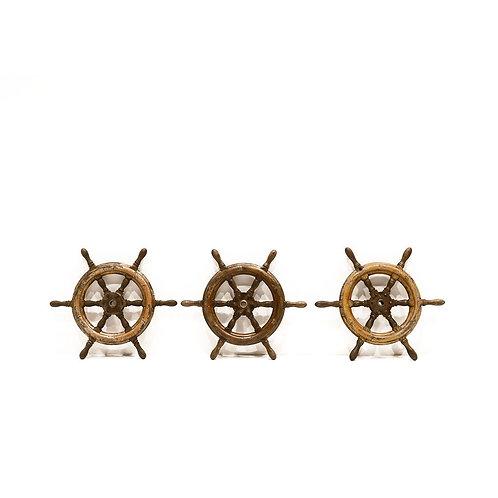 Original 1920 Elm Small Ships Steering Wheel.
