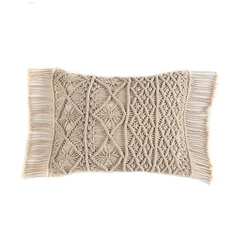Shiraleah Mirabelle Small Rectangle Beige  Pillow Cushion