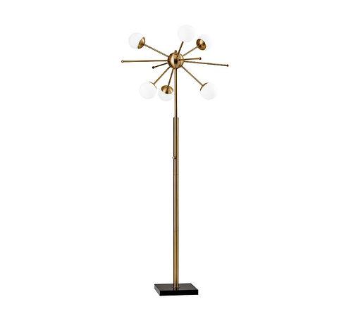 amuse l Shoppeamuse l Adesso Doppler Brass LED Floor Lamp