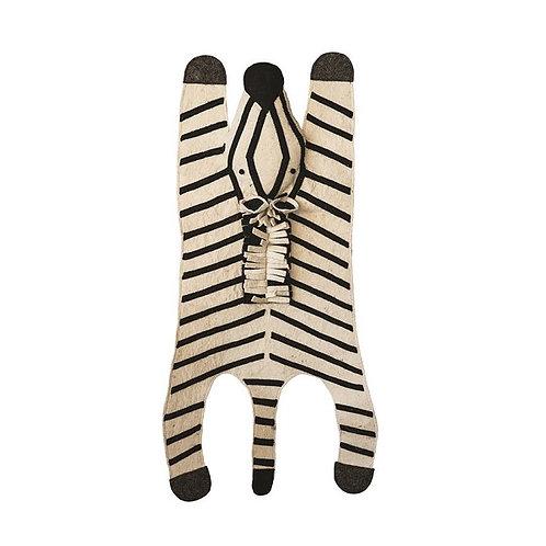 amuse l Shoppeamuse l Bloomingville Wool Felt Zebra Rug