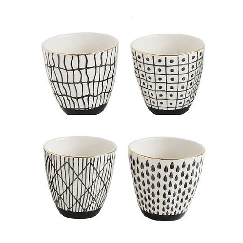 Black Pattern w/ Gold Electroplating Cup- 4 Styles