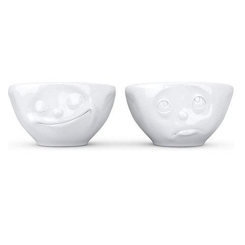 amuse | shoppeamuse | Tassen Small Porcelain Bowl Set No. 2, Happy & Oh Please Face