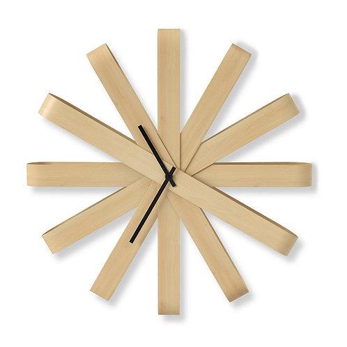amuse l Shoppeamuse l Umbra Ribbon Wood Wall Clock