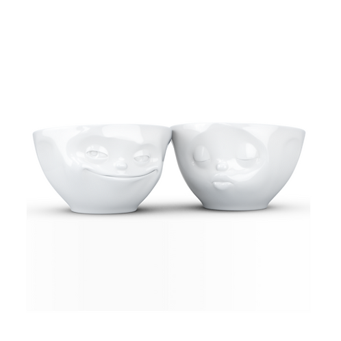 amuse | shoppeamuse | Tassen Small Porcelain Bowl Set No. 1, Kissing & Grinning Face