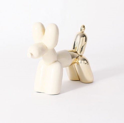 amuse l Shoppeamuse l Imm Living Balloon Dog Book End Cream and Gold