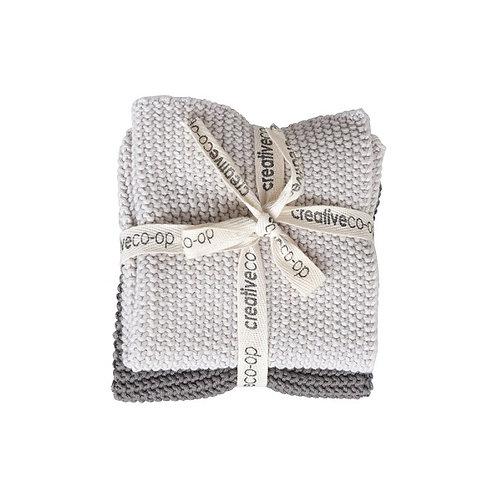 amuse l Shoppeamuse l Creative Co Op Knit Dish Cloths Set of 2