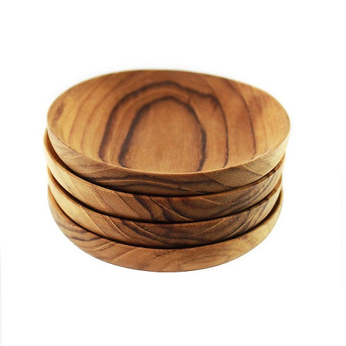 amuse l Shoppeamuse l Be Home Teak Pinch Bowl Set of 4