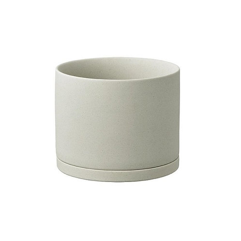 amuse l Shoppeamuse l Kinto Plant Pot with Saucer - Earth Greay