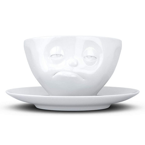 amuse | shoppeamuse | Tassen Porcelain Coffee Cup with Saucer Snoozy Face