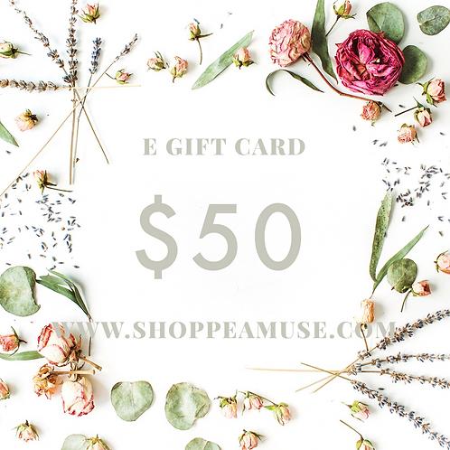 E Gift Card - $50