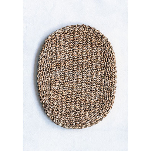 Creative Co-Op Oval Natural Seagrass Placemat