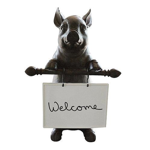 amuse l Shoppeamuse l Creative Co Op Resin Pig Message Board