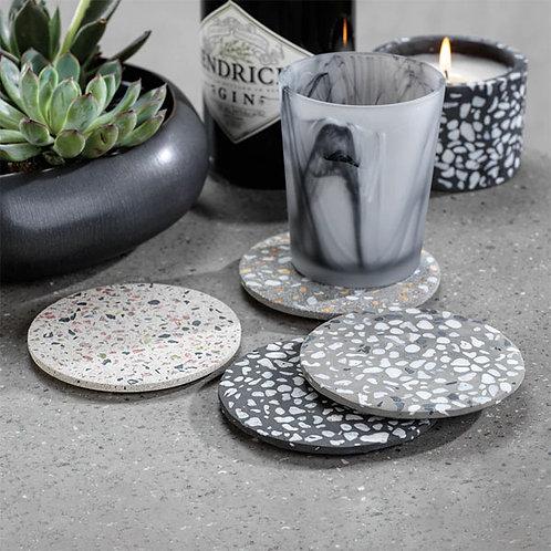 amuse | shoppeamuse | Zodax Round Terrazzo Coasters