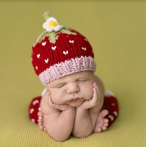 Strawberry Knit Newborn Set