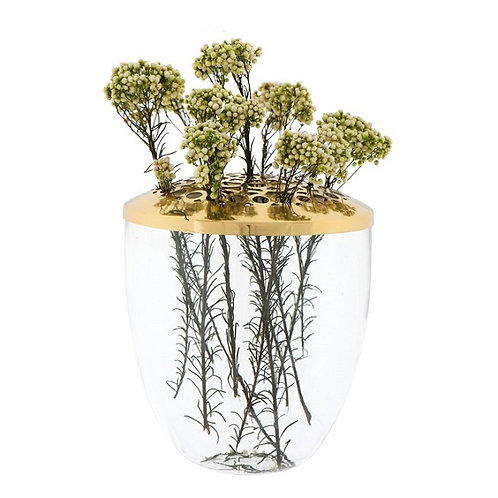 amuse l Shoppeamuse l Creative Co Op Glass Vase w Gold Frog Lid