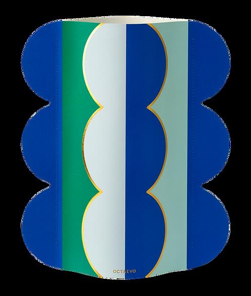 Paper Vase - Riviera Wave
