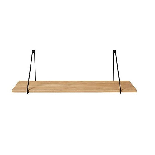 amuse l Shoppeamuse l Blomus Panola Oak Shelf W Black Brackets