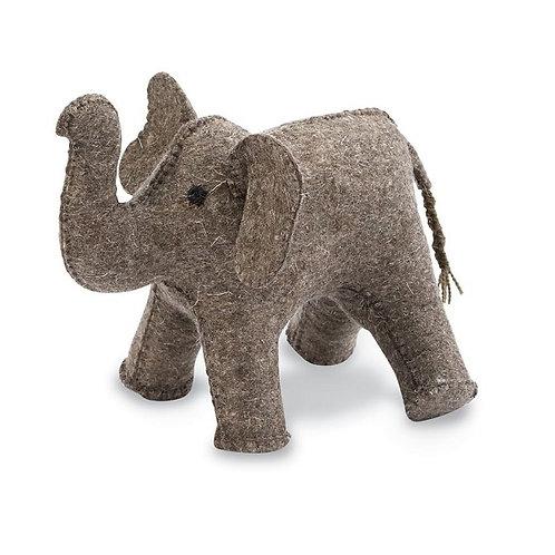 amuse l Shoppeamuse l Mudpie Felt Elephant Bookend