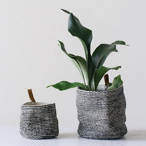 amuse l Shoppeamuse l Creative Co Op Jute Baskets with Leather Loop