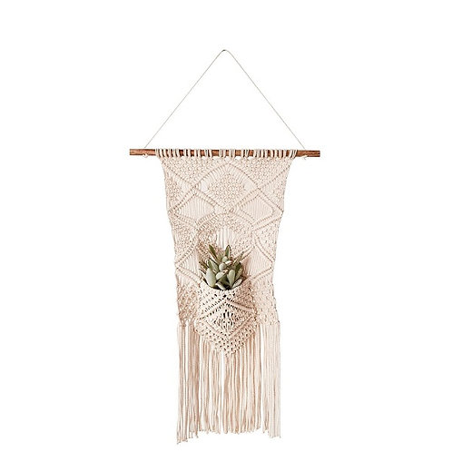 amuse l Shoppeamuse l Creative Co Op Macrame Wall Hanging w/ Pocket