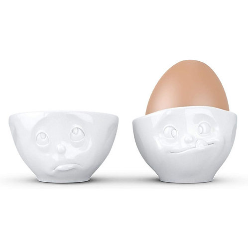 amuse | shoppeamuse | Tassen Porcelain Egg Cup Set No. 2, Oh Please & Tasty Face