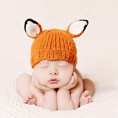 Fox Newborn Knit Set