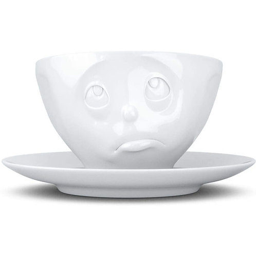 amuse | shoppeamuse | Tassen Porcelain Coffee Cup with Saucer, Oh Please Face