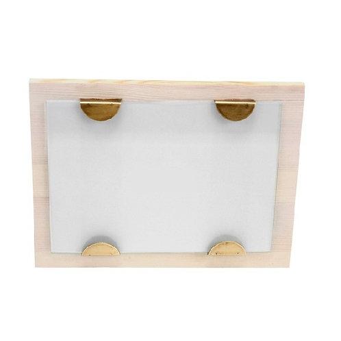 "amuse l shoppeamuse l Floor9 l Horizontal Wood Picture Frame w Brass - 5""x7"" Photo"