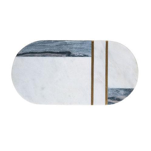 Marble & Brass Tray / Cutting Board
