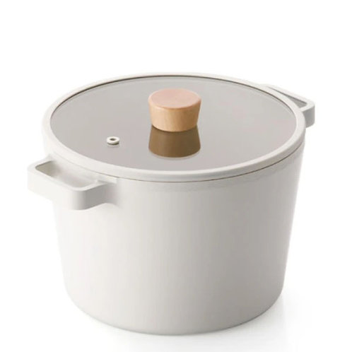 NEOFLAM FIKA 4.9 QT Deep Stockpot for Stovetops and Induction