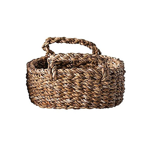 Creative Co-op Oval Natural Woven Seagrass Handles