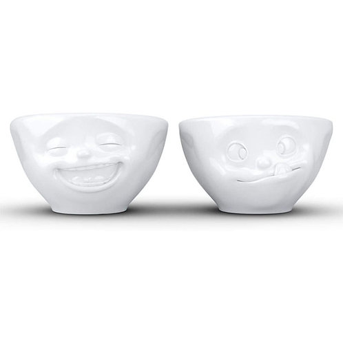amuse | shoppeamuse | Tassen Small Porcelain Bowl Set No. 3, Laughing & Tasty Face