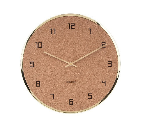 Gold Wine Cork Wall Clock