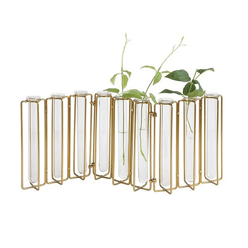 amuse l Shoppeamuse l Creative Co Op Gold FIn Metal Vase with Test Tube
