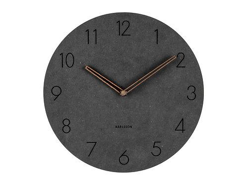 amuse l Shoppeamuse l Karlsson Wood Dura Wall Round Clock Black