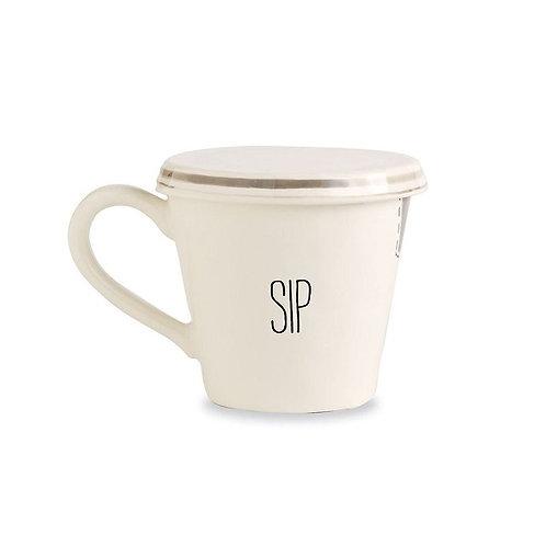 amuse l Shoppeamuse l Mudpie Tea Mug with Lid Sip
